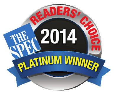 Hamilton Spectator 2014 Readers' Choice Platinum Winner